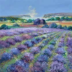 Purple Meadows I by Torres -  sized 24x24 inches. Available from Whitewall Galleries
